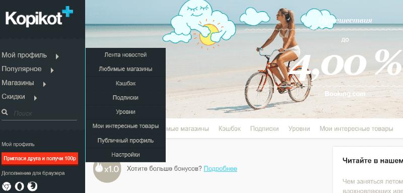 Личный профиль на сайте Kopikot.ru
